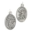 Religious Pendant Lead Free Guardian Angel/st.michael Nickel